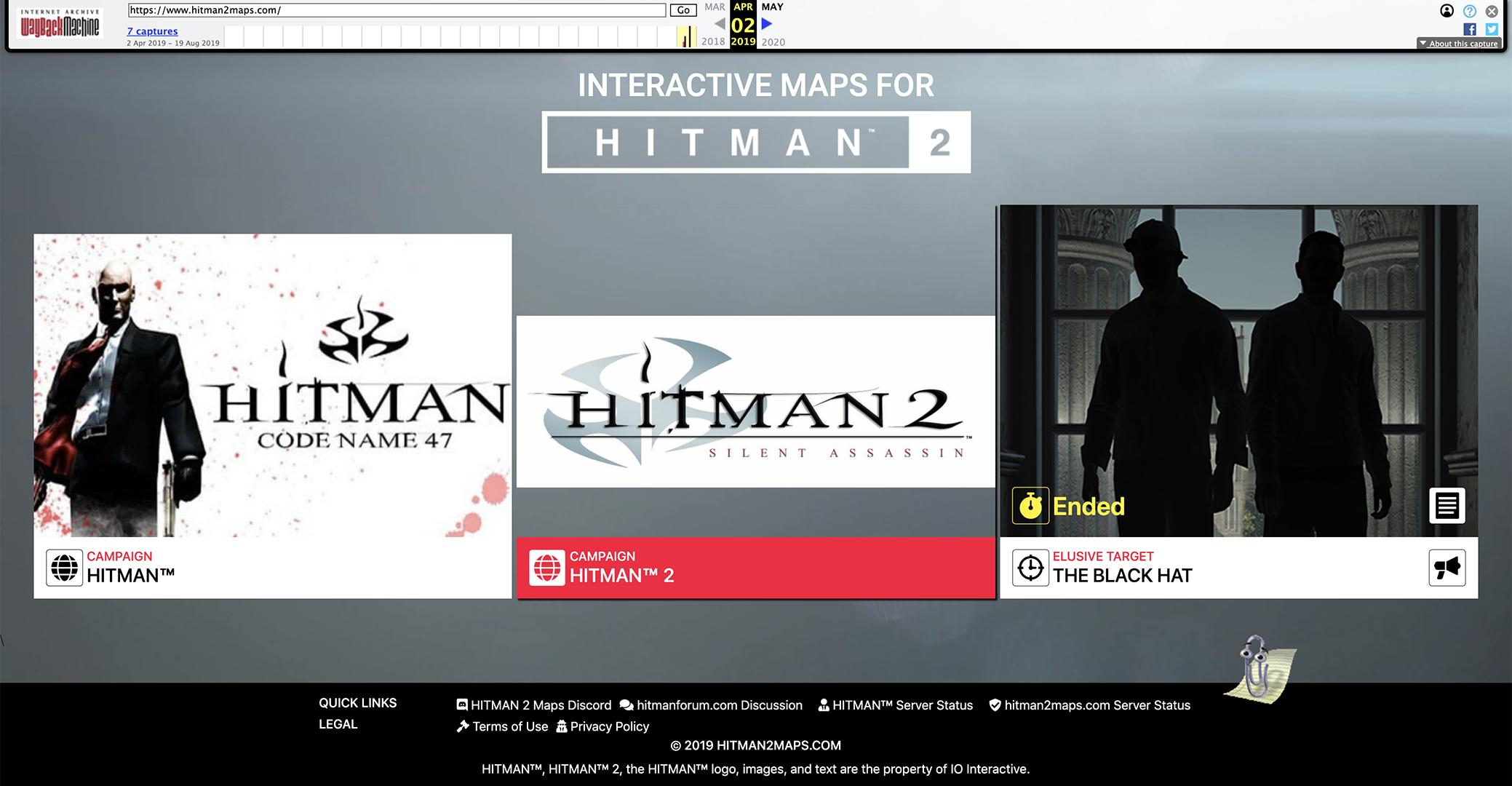 Hitman 2 Maps One Year Anniversary Hitmaps